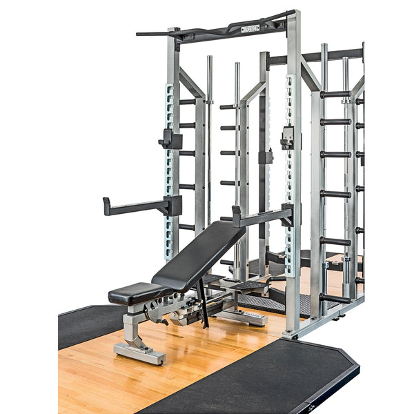 York Barbell 55014 STS Double Half Rack and Attachments