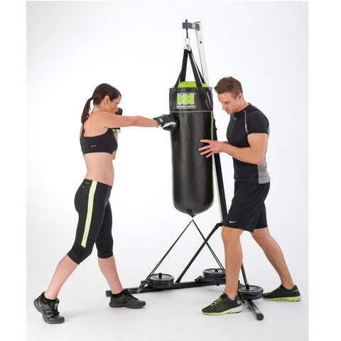 BBE425 Height Adjustable Boxing Stand with Male and Female Models.