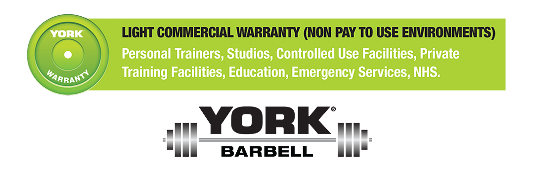 York Barbell Light Commercial Warranty Logo