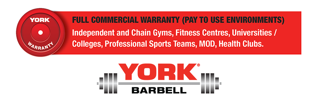 York Barbell Full Commercial Warranty logo