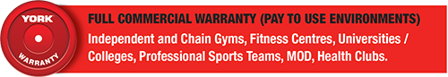 York Barbell Full Commercial Warranty
