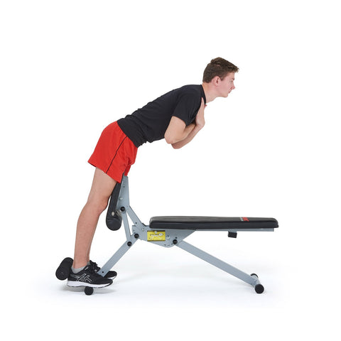 45067 York Fitness 13 in 1 Dumbbell Bench in Hyper Position with Model