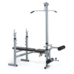 York Fitness 530 Barbell Bench with Lat Pull Down Attachment