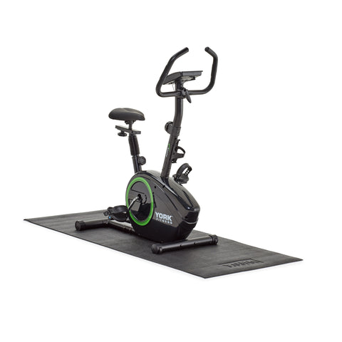53061 York Fitness Active 110 Exercise Cycle on 6526 York Fitness Equipment Mat