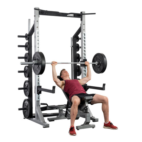 York Barbell Multi-function Bench and Half Rack