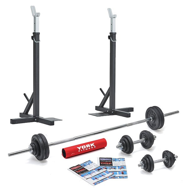 York Fitness Home Squat Set - Garage Gym Equipment