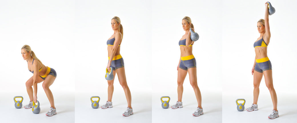 Kettlebell Clean and Shoulder Press