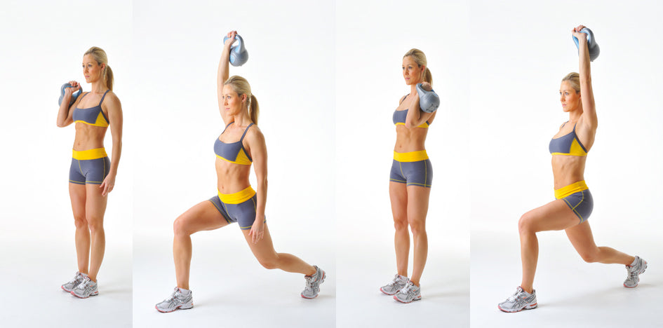 Kettlebell Lunge and Press