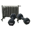 York Barbell Mobile Neo Hex / Fitbell Rack with Wheels