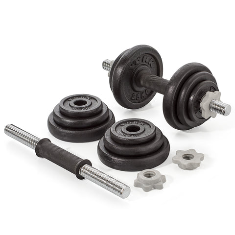 YORK 20 KG Black Cast Iron Dumbbell Set