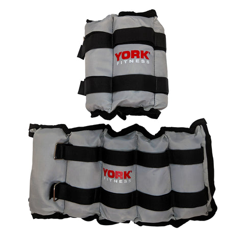 York Fitness 2 x Ankle Wrist & Weights