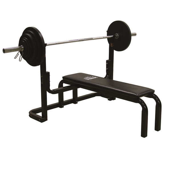 York fitness powerlifting weight bench garage gym bench press