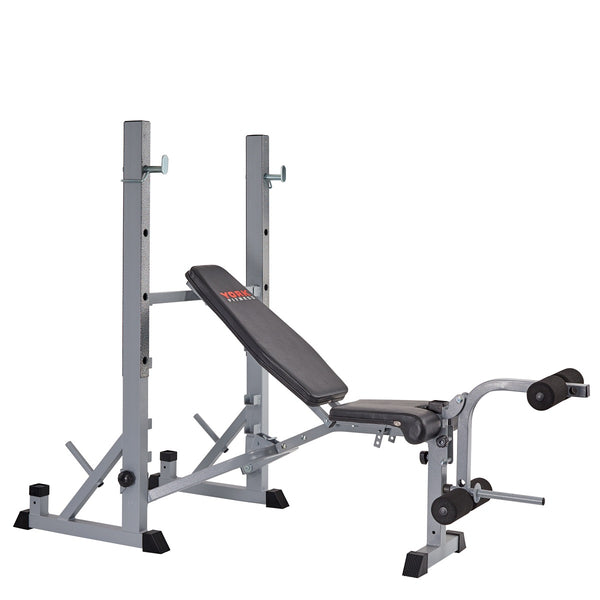 Marvelous Squat Rack Bench Part - 7: York Fitness 540 Heavy Duty Folding Barbell Bench U0026 Squat Rack