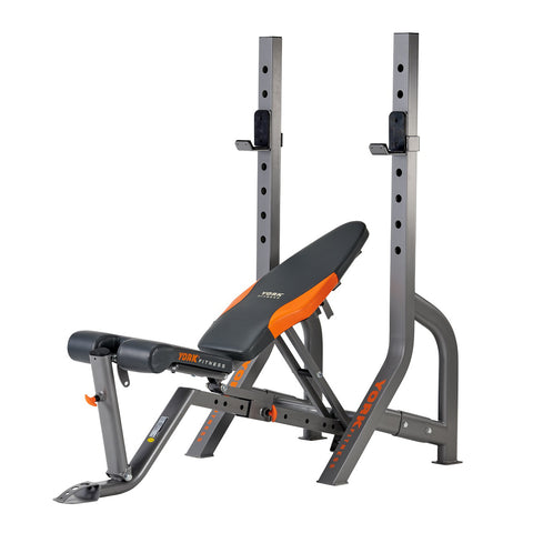 York Fitness Diamond Olympic Narrow Stance Barbell Bench