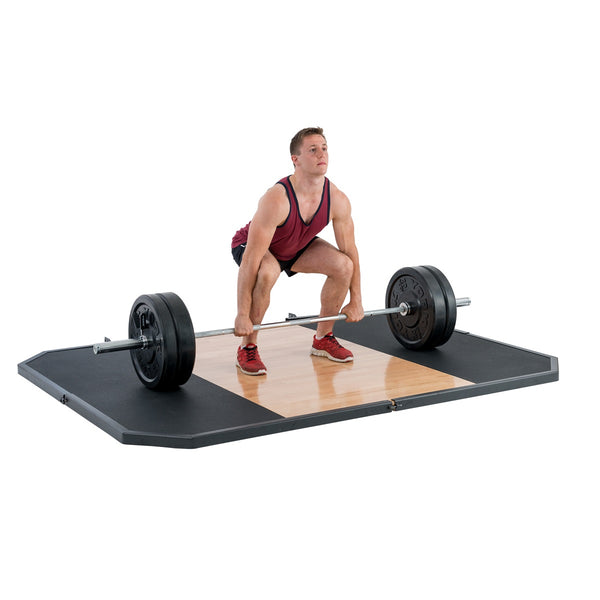 York Barbell Oak 8' X 6' Free Standing Lifting Platform