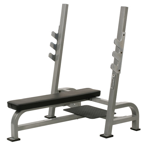 York Barbell Olympic Flat Bench with Gun Racks