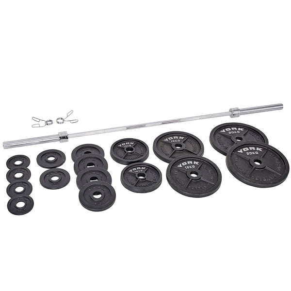 York Barbell 140 KG Olympic Barbell Set