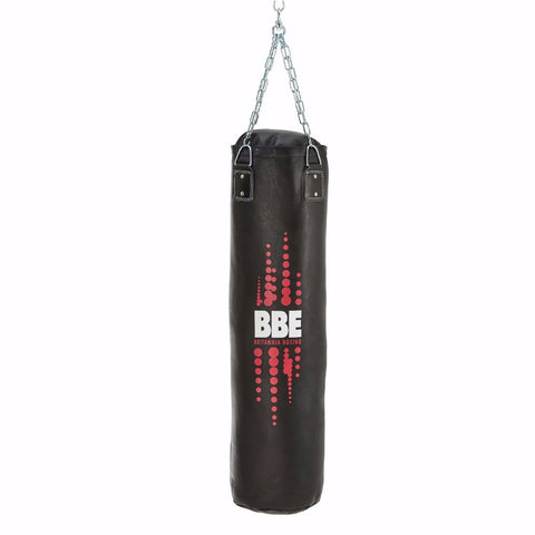 BBE CLUB Leather 120 cm Punching Bag with Chains & Swivel