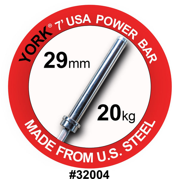 York Barbell 7' Elite USA Olympic Power Bar
