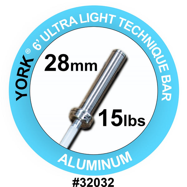 York Barbell 6' Ultra-Light Aluminium Technique Bar