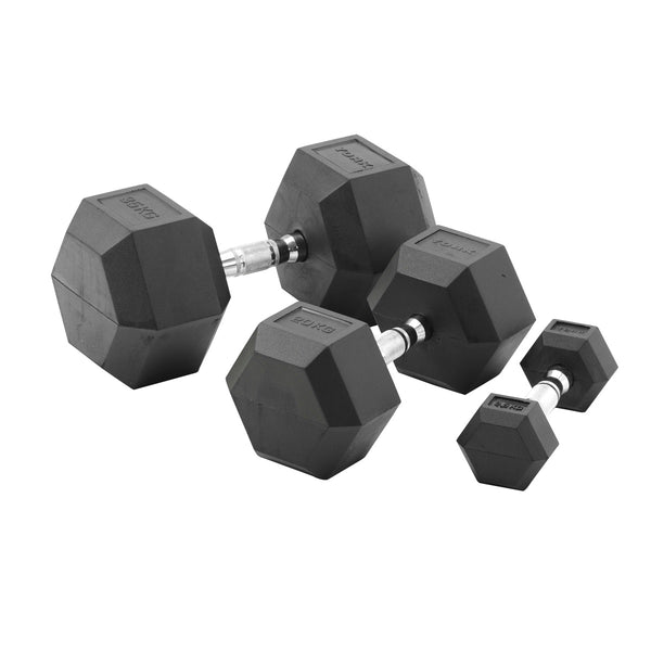 York Barbell Commercial Rubber Hex Dumbbells & Packs