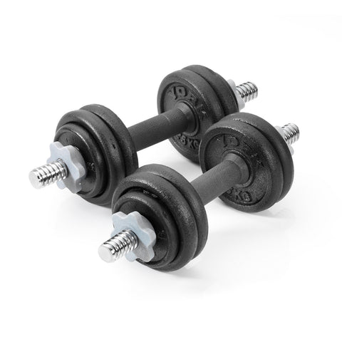 York Fitness 15 KG Black Cast Iron Dumbbell Set