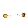 York Fitness 15 KG Gold Vinyl EZ Curl Spinlock Weight Set