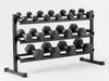 York Barbell 3 Tier Rubber Hex Dumbbell Rack