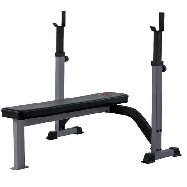 York Barbell FTS Olympic Fixed Flat Bench (Grey)