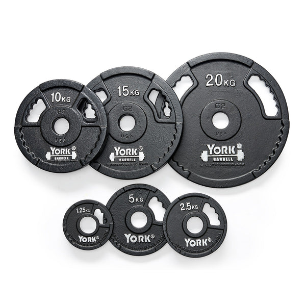 York Barbell G2 Cast Iron Olympic Weight Plates