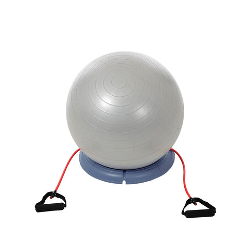 York Fitness 65 cm Gym Ball with Base and Resistance Handles