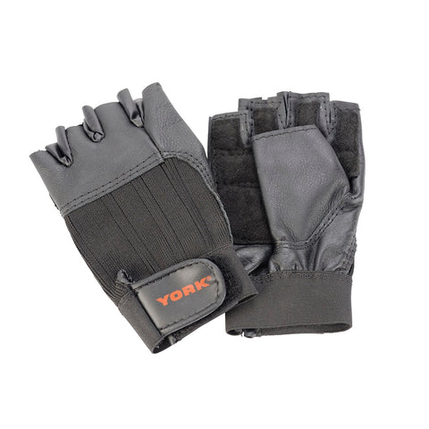 York Fitness Leather Weight Lifting Gloves