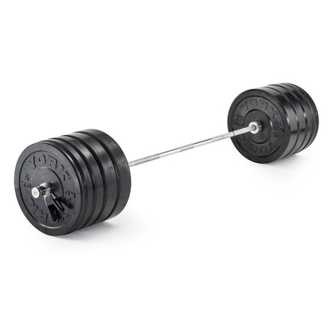 York Barbell Olympic Solid Rubber Bumper Plates