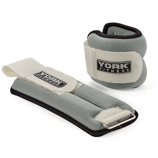 York Fitness Soft Ankle & Wrist Weights 2 x 1 KG