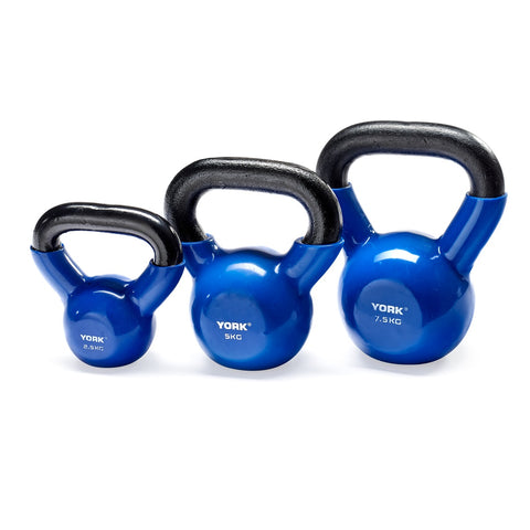 York Fitness Vinyl Coated Cast Kettlebells