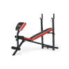 York Fitness Warrior 2 in 1 Folding Barbell & Ab Bench with Curl