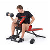 York Warrior 2 in 1 Dumbbell & Ab Bench with Curl