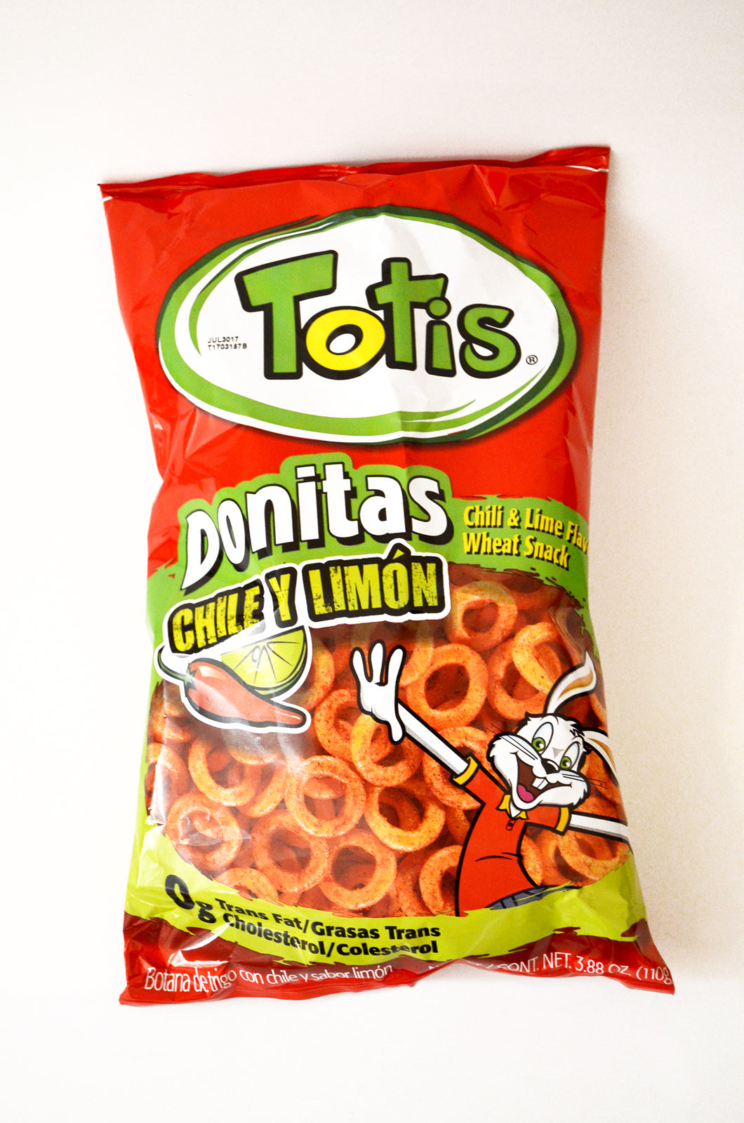 Totis chili and lime flavored wheat snack