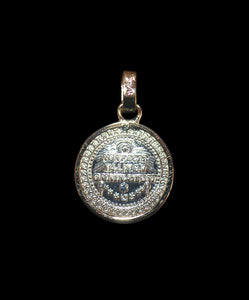 Silver made with round shape Guadalupe Madonna medallion