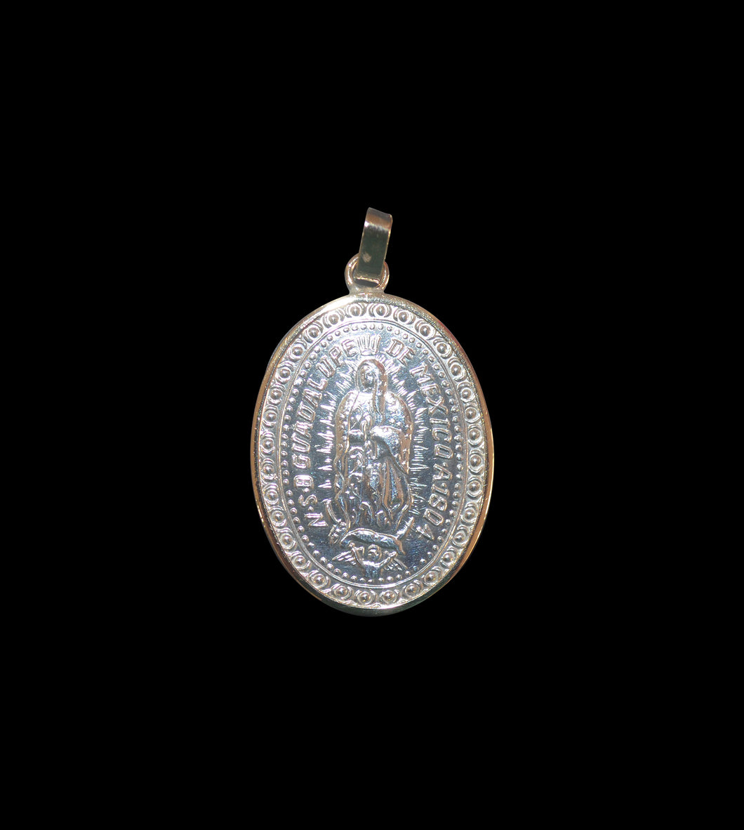 Medium silver Guadalupe Madonna medallion
