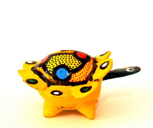 turtle alebrije yellow