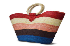 Striped Beach Handbag