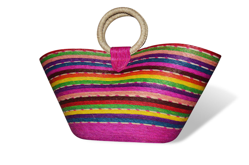 Multicolor Beach Handbag