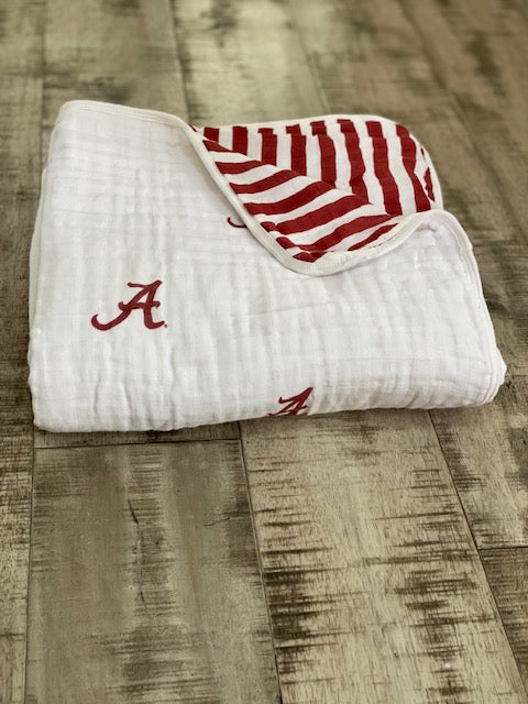 University of Alabama Muslin Blanket
