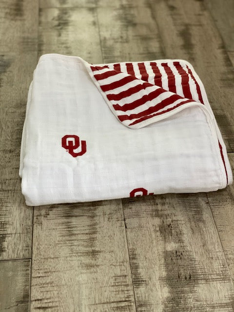 University of Oklahoma Muslin Blanket