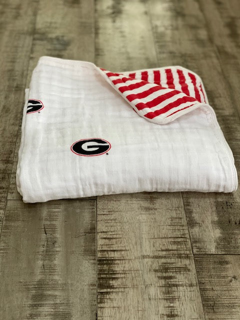 University of Georgia Muslin Blanket