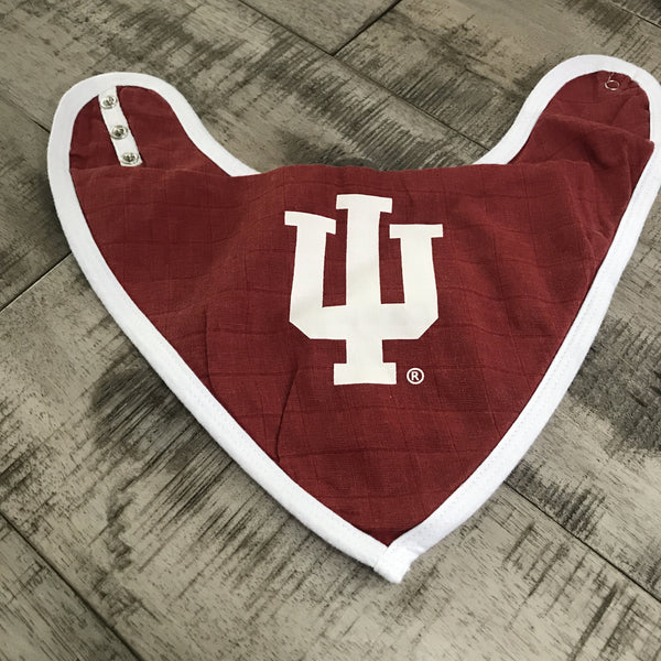 Indiana Univeristy Bandana Bib (Crimson)