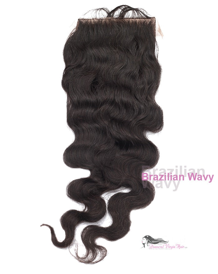 Brazilian Wavy Silk Base Closure Diamond Hair Company