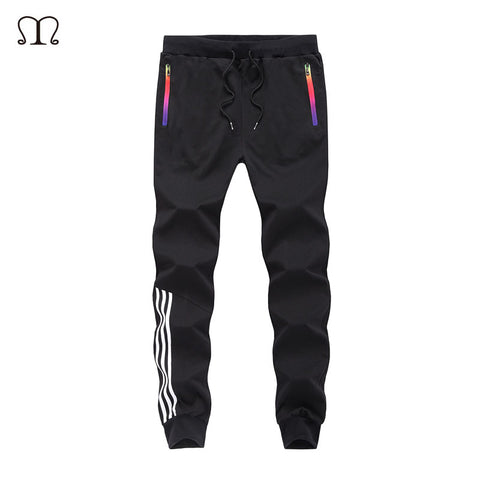 2017 Casual Skinny Zipper botton Sweatpants Solid Hip Hop high street Trousers Pants Men Joggers Slimming pants sweatpants