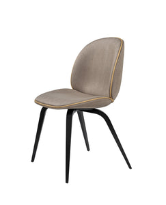 Beetle Dining Chair Wood Base with Upholstery - Curio Cavern